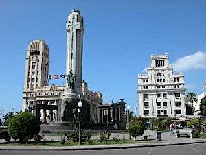 "The ""Plaza España"" in Santa Cruz de Tenerife"
